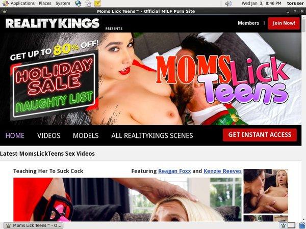Momslickteens.com Trial Sign Up