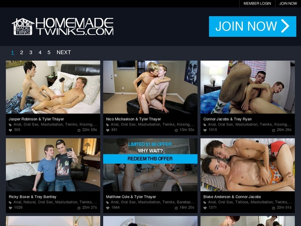 Home Made Twinks Discount Account